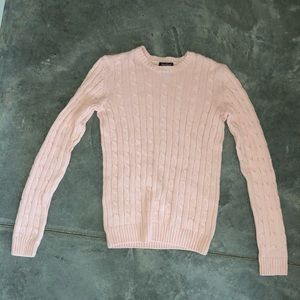 Women's medium Pale pink cable knit sweater